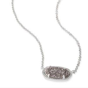 Kendra Scott, Platinum Druzy Necklace BNWT! 💯⭐️